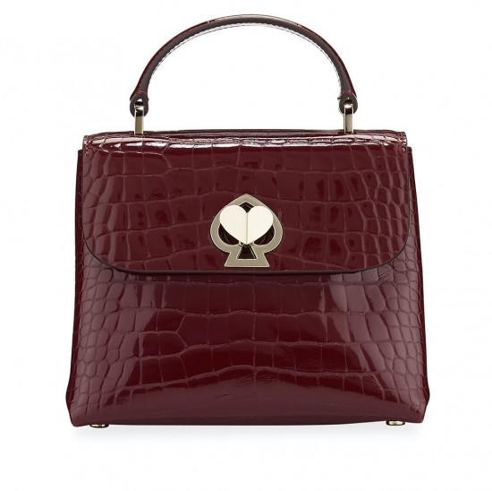Kate Spade Romy Croc Embossed Mini Top Handle Bag