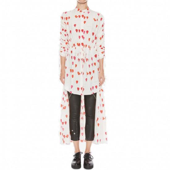 Alexander McQueen Petal Print High-Low Shirt