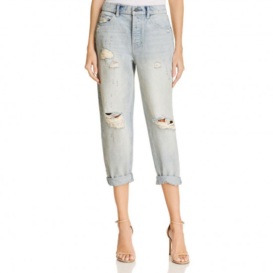 Alexanderwang.T Slack Distressed Cuffed Boyfriend Jeans