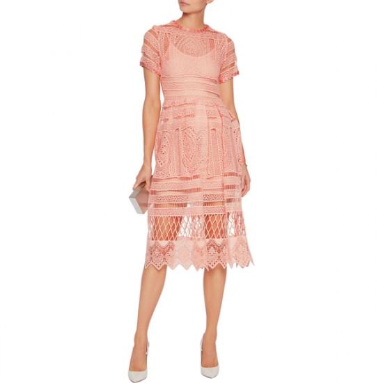 Alexis Alanna Macramé Lace Midi Dress