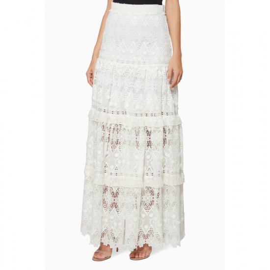 Alexis Hisa Guipure Lace Maxi Skirt