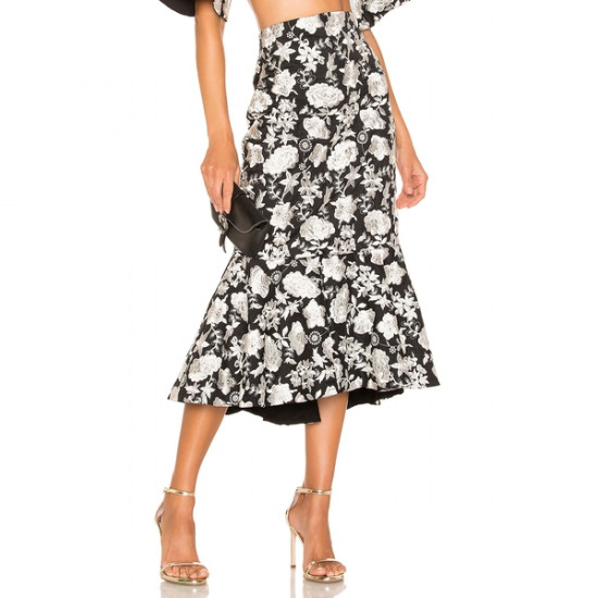 Alexis Reece Embroidered Floral Skirt