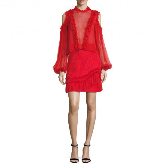 Alexis Vinna A-Line Lace Mini Skirt