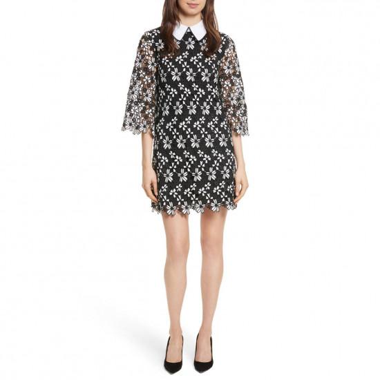 Alice + Olivia Debra Collared Lace Tunic Dress