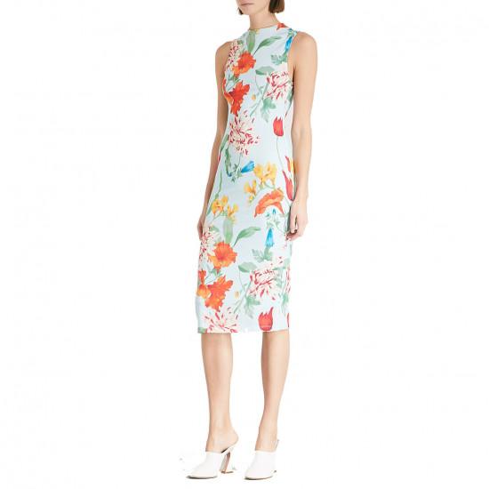 Alice + Olivia Delora Floral Sleeveless Bodycon Dress