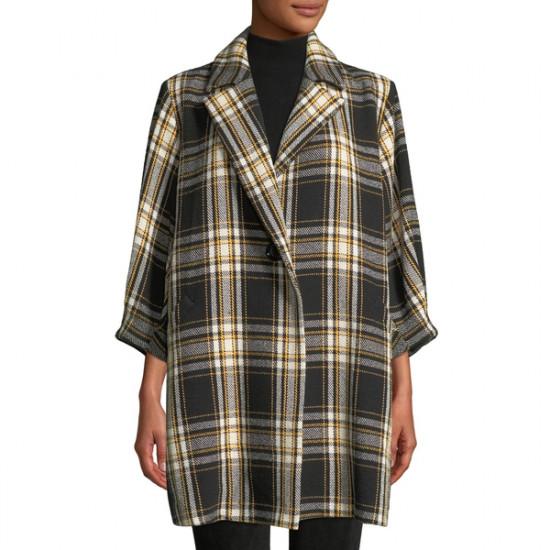 Alice + Olivia Lance Seamed Oversized Coat