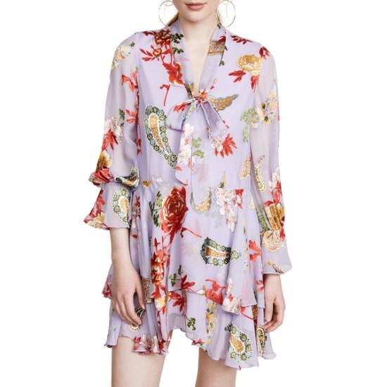 Alice + Olivia Moore Floral Ruffle Dress