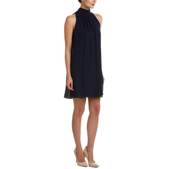 Alice + Olivia Rhiannon Tie Mockneck Dress