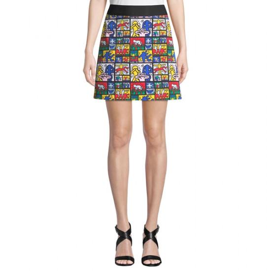 Alice + Olivia x Keith Haring Riley A-Line Mini Skirt