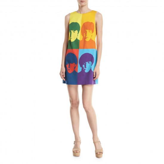 Alice + Olivia X The Beatles Clyde Printed Mini Shift Dress