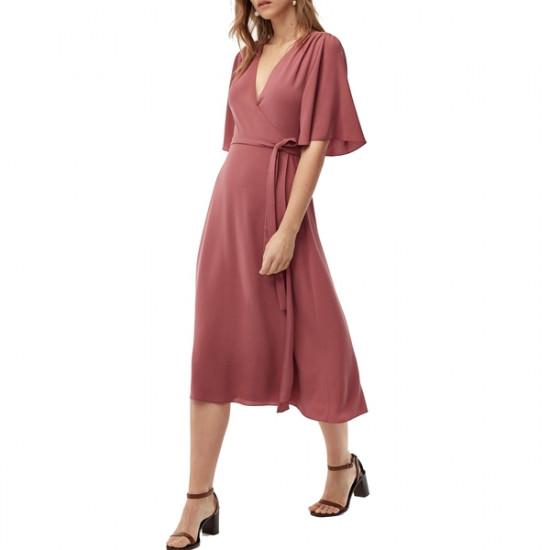 Aritzia Wilfred Sabine Wrap Front Mini Dress