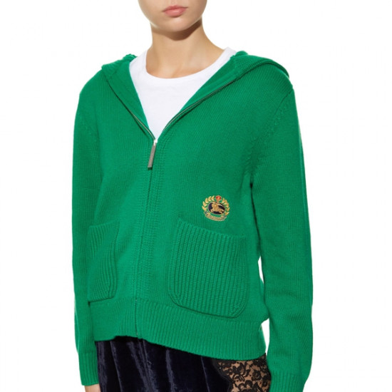 Burberry Embroidered Archive Logo Cashmere Hoodie