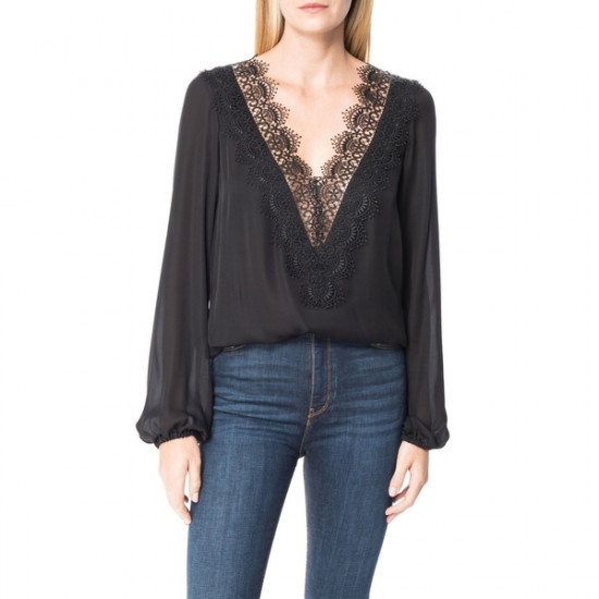 Cami NYC The Alannah Lace Trim V-Neck Top