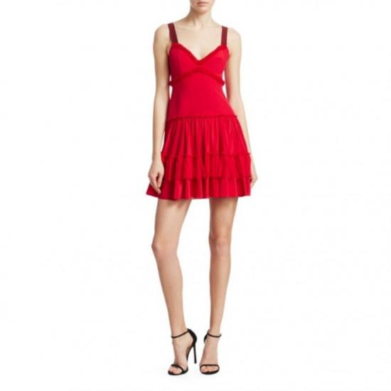 Cinq à Sept Livia Tiered Ruffle Mini Dress