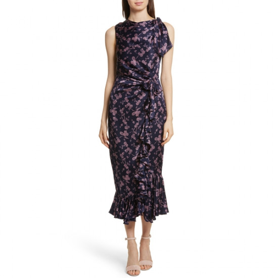 Cinq à Sept Nanon Knotted Silk Dress