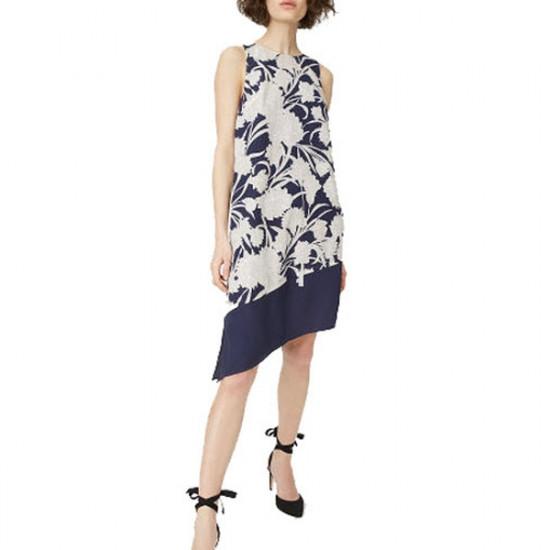 Club Monaco Quynh Floral Asymmetric Dress