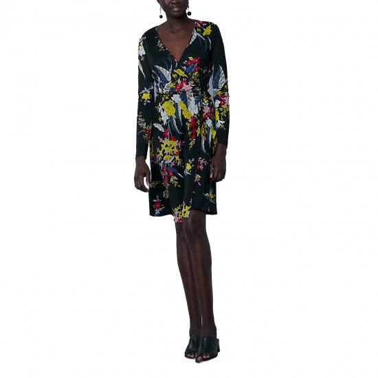 Diane von Furstenberg Camden Floral Long-Sleeve Wrap Dress