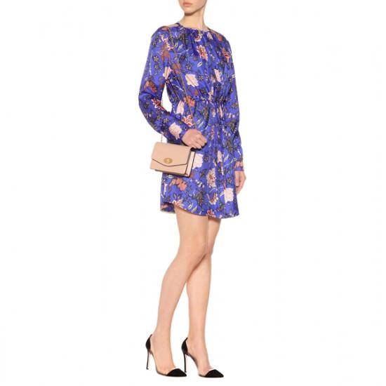 Diane von Furstenberg Floral Tie Waist Mini Dress