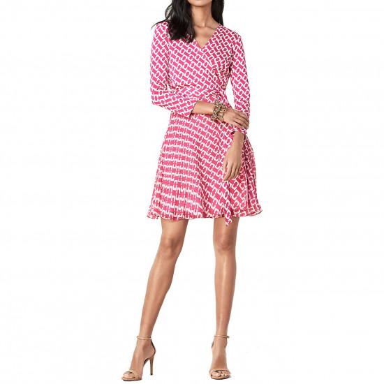 Diane von Furstenberg Irina Chainlink Silk Jersey Wrap Dress
