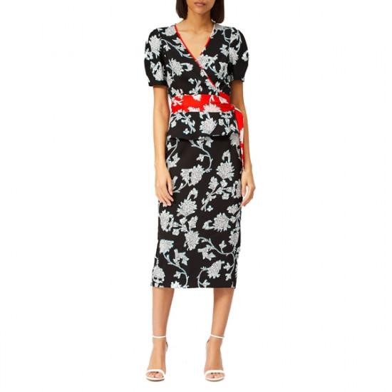 Diane von Furstenberg Kara Floral-Print Midi Skirt