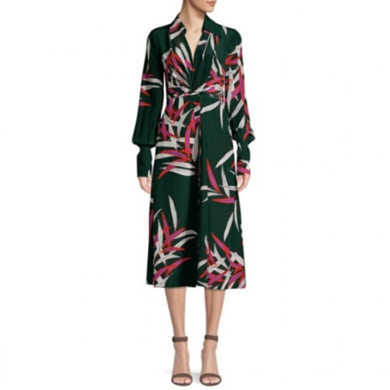 Diane von Furstenberg The DVF Von Quincy Hunder Print Dress