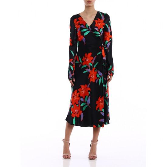 Diane von Furstenberg Tilly Argos Floral Wrap Dress