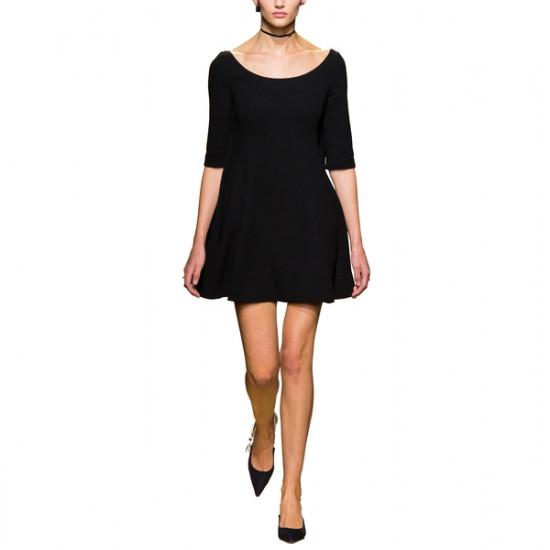 Dior Deep Scoop Neck Fit & Flare Mini Dress