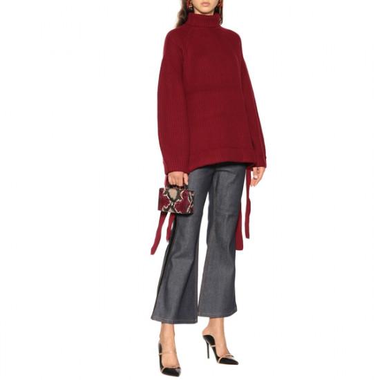Ellery Wallerian Oversize Side Tie Slit Turtleneck Sweater