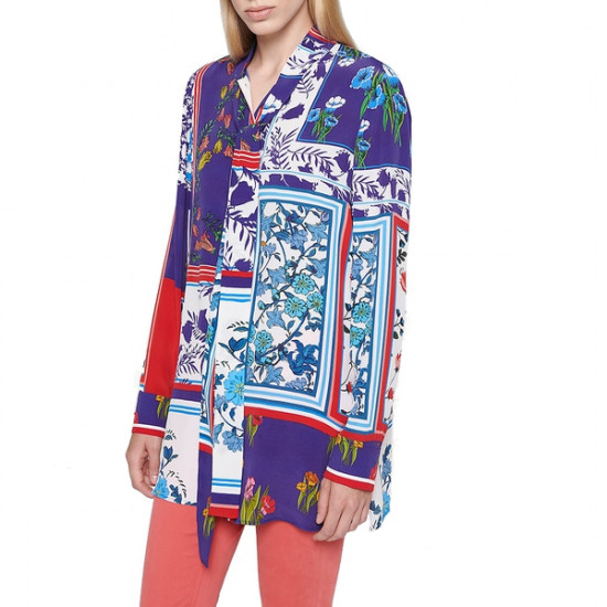 Escada Sport Printed Silk-Blend Blouse