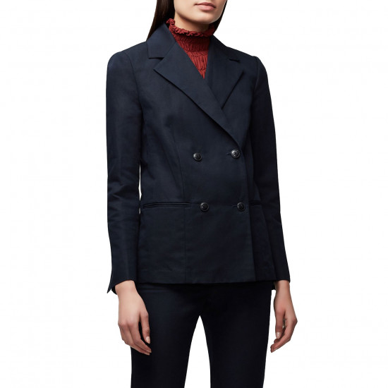 Frame Easy Double-Breasted Blazer