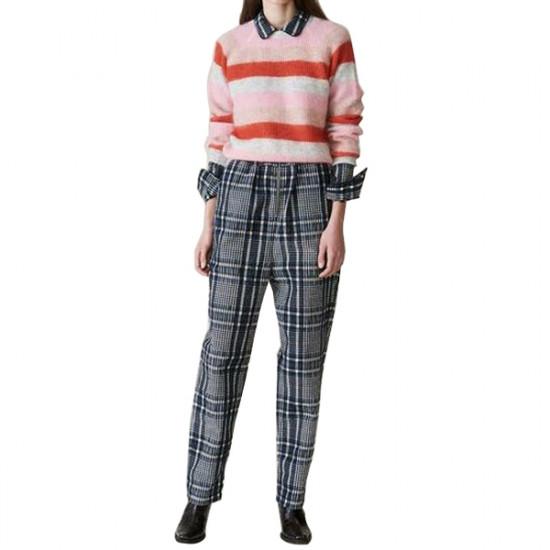 Ganni Cordelia Striped Mohair & Wool Sweater