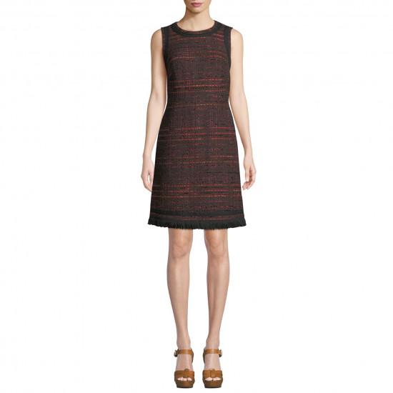 Kate Spade Multi Tweed Fringe Dress