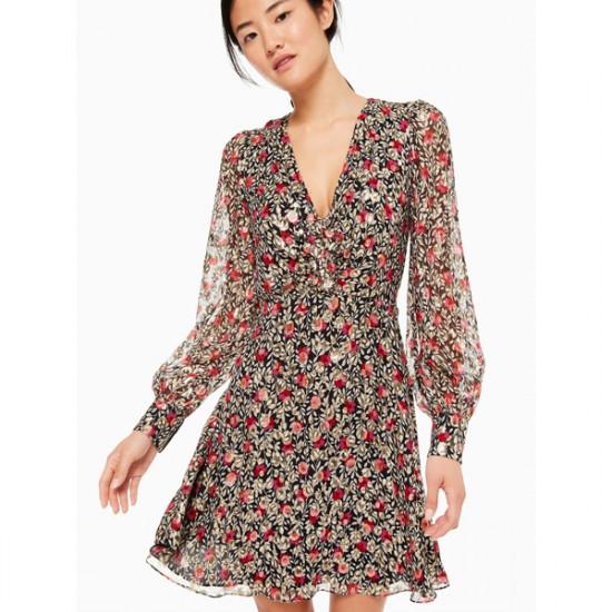 Kate Spade New York Floral Park Clip Dot Dress