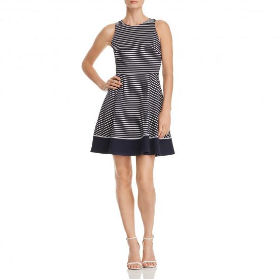 Kate Spade New York Striped Ponte Fit & Flare Dress