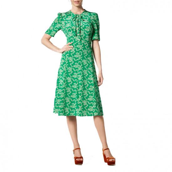 L.K. Bennett Montana Printed Silk Midi Dress