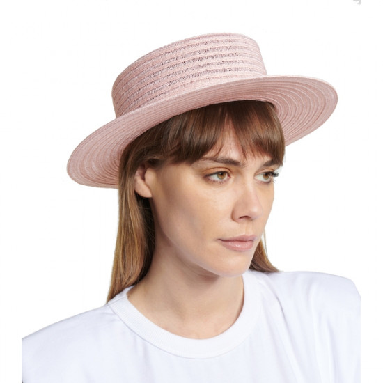 Maison Michel Kiki Hemp Straw Boater Hat