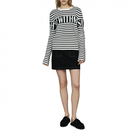 Maje Minotora Striped Wool-Blend Sailor Sweater