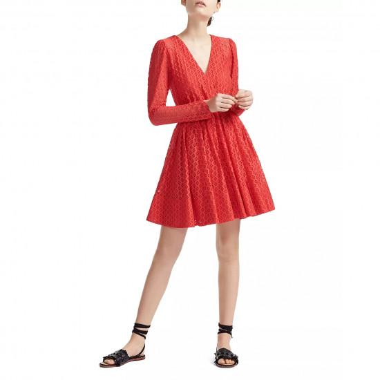 Maje Ralina Long Sleeve Guipure Lace Dress