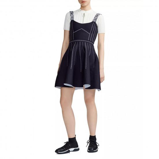 Maje Relief Reversible Weaved Short Dress