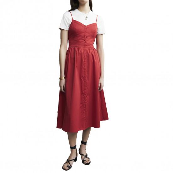 Maje Rimana Spaghetti Strap Cotton Dress