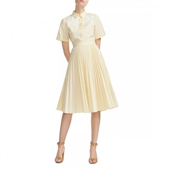 Maje Rivers Embroidered Shirt Dress