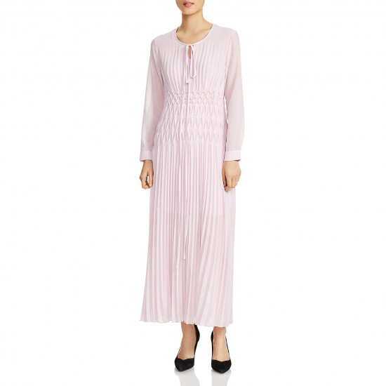 Maje Rocket Pleated Maxi Dress