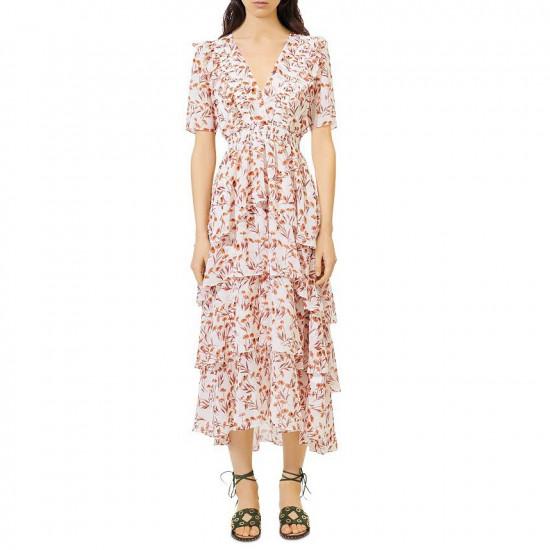 Maje Romina Tiered Maxi Dress