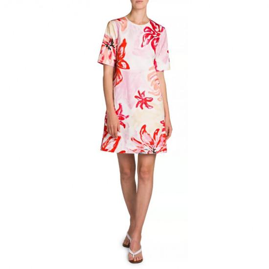 Marni Clematis Floral Print T-Shirt Shift Dress