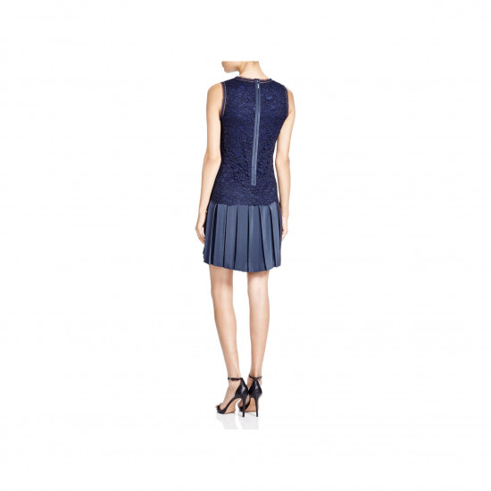 Rebecca Taylor Lace Mix Pleated Dress