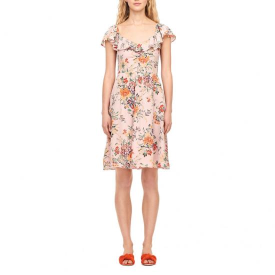Rebecca Taylor Marlena Ruffle Silk Dress