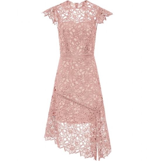 Reiss Ivana Lace Asymmetric Hemline Dress