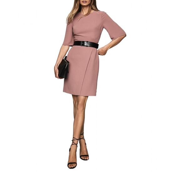 Reiss Myra Tailored Wrap Front Dress