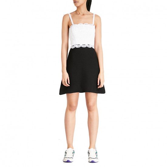 Sandro Gorka Two-Tone Lace Mini Dress