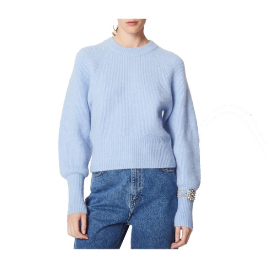 Sandro Knautie Jewel Sleeve Sweater